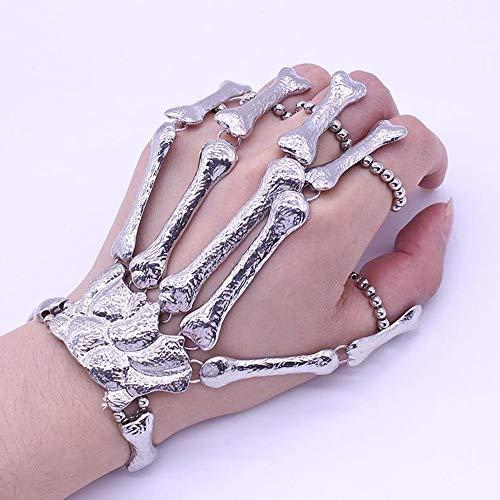 HANYF Ghost Claw Armband, Skelett Armband Halloween Skelett Armband, Hand Knochen Spielzeug Geschenk Skelett (Promi Ideen Für Kostüm)