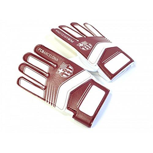 FC Barcelona Kinder/Jugendliche Fußball Torwart Handschuhe (Boys (5-8 Jahre)) (Burgunder/Weiß) -