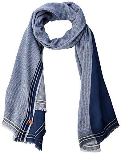 camel active Herren 407190 Schal, Blau (Blue 40), One Size (Herstellergröße: OS)