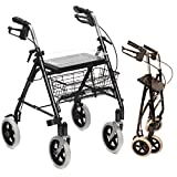 Best Rollator Walkers - Folding Lightweight Rollator walking frame with locking brakes Review