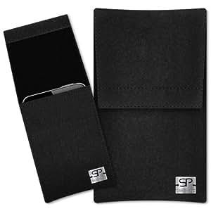 SIMON PIKE Hülle Handytasche Sidney 1 schwarz für Apple iPhone 5S 5C 5 aus Filz