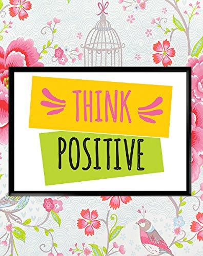 Think Positive Motivational inspirierendes Zitat Poster Kunstdruck Wandbilder