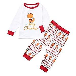 Amphia Pyjama Set – Pyjamas Langarm Nachtwäsche Xmas Streifen Schlafanzug Sleepwear Sweater Set Familie Kleidung Damen Herren Kinder Mädchen Jungen