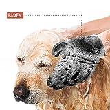 TRUE PET – Fellpflegehandschuh für Hund, Katze & Hase – Enthaaren, Baden & Massieren | Fellbürste für sensible Haut | Hundebürste & Katzenbürste für Mittel- & Kurzhaar | Fellkamm Striegel - 6