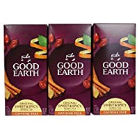 Good Earth Sweet and Spicy All-Natural Caffeine-Free Herbal Tea Bags, 25-Count (Pack of 3)
