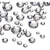 2000 Pièces 5 Tailles Cristal Pierres de Strass Rond Dos Plat Pierres Strass Clair Gems 1.5-5 mm