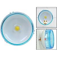 Itian Rueda de ejercicio para hámster - Ideal para hámster, ratones, jerbos u otros animales pequeños (azul)