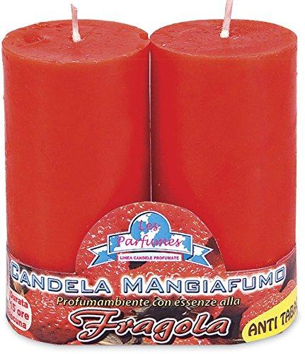 Candele mangiafumo al profumo di fragola 2 pezzi
