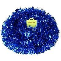 CHRISTMAS CONCEPTS 4m Fornido/Fino Oropel - Decoraciones para árboles de Navidad (Azul)