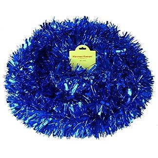 Christmas Concepts 4m Fornido/Fino Oropel – Decoraciones para árboles de Navidad (Azul)