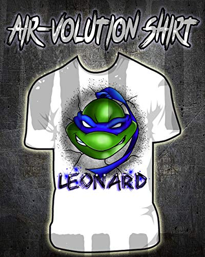 onalisierte Airbrush Ninja Turtle Shirt Kinder- / Erwachsen-Größen Weiß ()