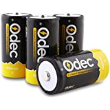 Odec C Rechargeable Batteries, Deep Cycle 5000mAh NiMH Battery Pack(4 Pack)
