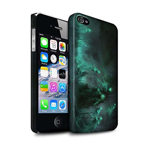Offiziell Chris Cold Hülle / Matte Snap-On Case für Apple iPhone 4/4S / Pack 5pcs Muster / Unterwelt Kollektion Hades/Phantom