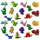 Oblique Unique Kinder Dino Sticker Set Farbenfrohe Dinosaurier Aufkleber zum Spielen Basteln Spielspass Kindergeburtstag