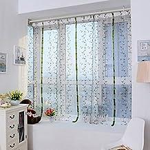 Sundlight 2 X Voile Gardinen Lichtdurchlssig Rmischer Vorhang Fr Wohnzimmer Schlafzimmer Kinderzimmer Rollen Und Heben 80