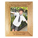 My First Day At School 6x4 Oak Frame Back, to, School, Gifts, and, Cards Fathers, Day, Gift, Idea Occasion, Gift, Idea Personalised by GiftRush