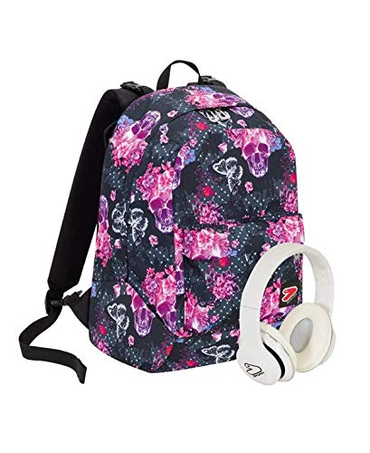 Zaino seven the double - queen crown - rosa - cuffie wireless - 2 zaini in 1 reversibile