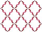 Plantilla de pared con diseño de enrejado marroquí, reutilizable, grande, para manualidades, álbumes de recortes, paredes de suelos, muebles, vidrio, madera, etc. large