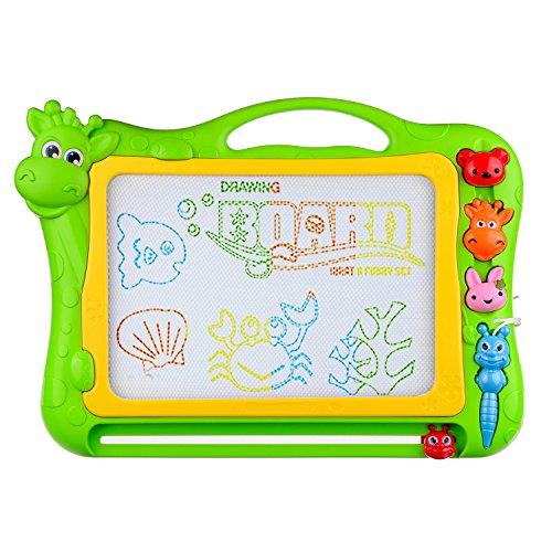 Magnetische Zeichenplatte,BCMRUN 12,8 zoll zeichnung bereich löschbar tragbare bunte magna doodle für kind lernmalerei