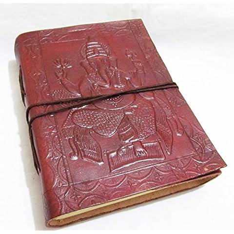 Dio ganesh- Look Vintage indiano fatto a mano da viaggio in pelle Diario Sketchbook Diario