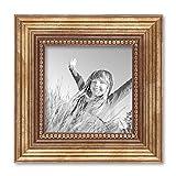 8er-Set Bilderrahmen Gold Barock Antik, je 2 mal 10x10, 10x15, 20x20 und 20x30 cm, inkl. Zubehör, Fotorahmen / Barock-Rahmen -