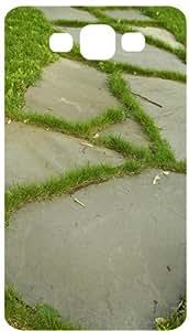 Grass Sidewalk White Flip Case for Samsung Galaxy S3 / SIII / I9300