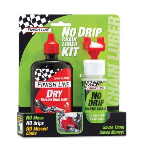 Finish Line No Drip Chain Luber Kit with 4-Ounce DRY Lube and Applicator, 2-Ounce by Finish Line