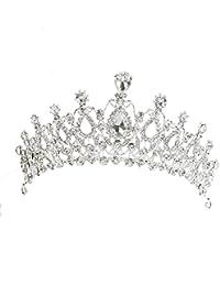 Novias De Fiesta Del Banquete De Boda De Limpieza Diadema Diamantes De Imitación Diadema Corona De Plata Del Corchete