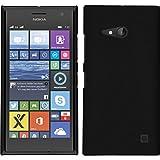 PhoneNatic Funda Rígida para Nokia Lumia 730 - goma negro - Cover Cubierta + protector de pantalla