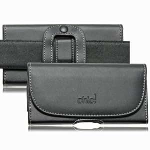 Premium Gürteltasche Chic für LG E975 Optimus G Handytasche Seitentasche Quertasche Ledertasche Trageclip Schutz Hülle Handy Tasche Holster Schutzhülle Schutz Gürtelschlaufe Schlaufe