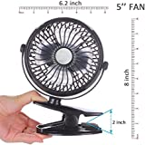 LOWRENCE Clip on Battery Operated Portable Fan (Assorted Color)
