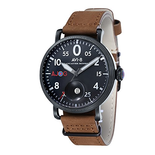 avi-8-mens-lancaster-bomber-special-edition-quartz-watch-with-black-dial-and-brown-leather-strap-av-
