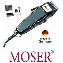 Rotschopf24 Edition Moser - Máquina para cortar el pelo profesional con palanca regulable, color negro Fabricada en Alemania. 43139