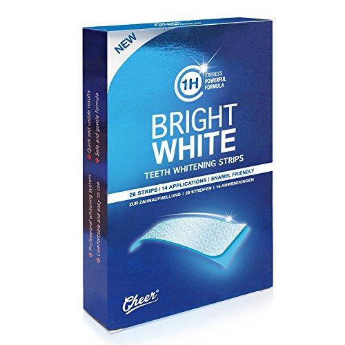 Cheer Zahnaufhellung Streifen (mit Advanced no-slip technology, professional bleaching für Zähne, Ohne Peroxide) 28 Streifen