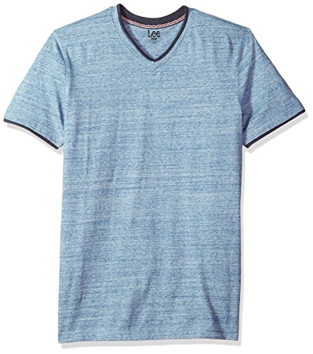 Lee Herren Short Sleeve Vneck Tee T-Shirt, Limoges, X-Groß -