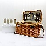 Traditioneller Weidenpicknickkorb 'Hadleigh' für...
