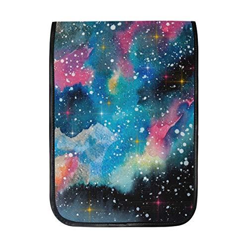 TIZORAX Schutzhülle für iPad Pro 12,9 Zoll, Aquarell-Universum, Galaxie, Nebel, Sterne, Smart Schutzhülle mit eingebautem Stifthalter für Apple iPad Pro 12,9 Zoll - Ultra-feinen Nebel