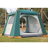 Forall-Ms Tenda da Esterno Pop-Up 2 × 2m 4-6 Tenda Impermeabile Doppio Strato Uomo, Gazebo da Giardino Tenda da Campeggio Istantanea per Tutte Le Stagioni,Green