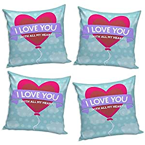 Sleep Nature's Throw Pillow/Cushion Covers Set of 4 (12x12 inch)