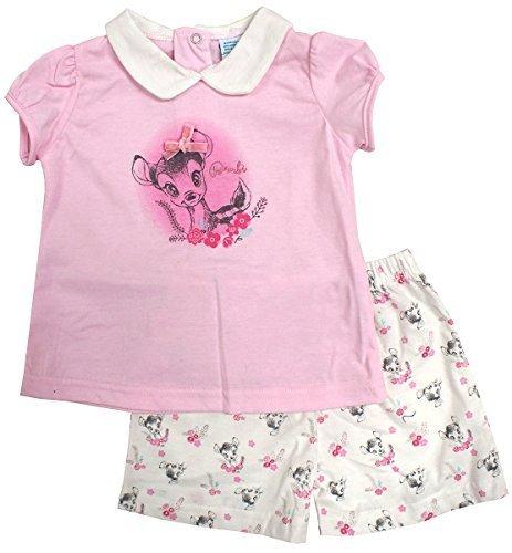 Baby DISNEY Outfit Bambi T-Shirt & Shorts Baumwolle Größen von 6 bis 24 Monate - Mehrfarbig, 24 Months (Disney Kinder Outfits)