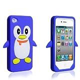 Yousave Accessories AP-GA01-Z632 Coque en gel pour iPhone 4/4S Bleu Pingouin