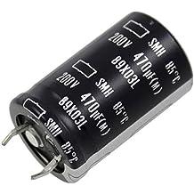 2x Snap-In Elko Kondensator 560µF 200V 85°C ; LA5-200V561MS51# ; 560uF
