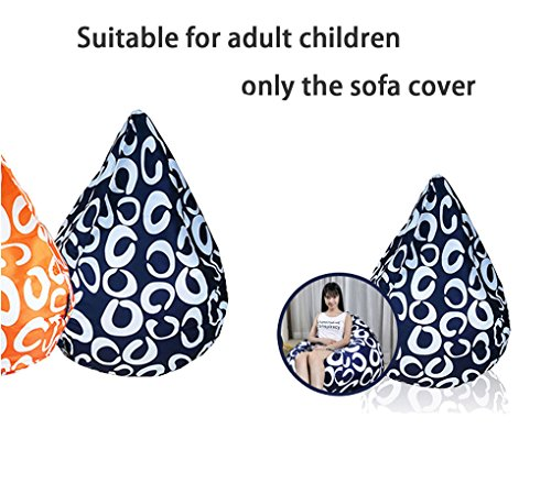 QuWei DIY Sitzsäcke Kissen Wasser Drop Typ Freizeit Creative Füllung Sofa Shell Farbe Muster