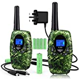 Topsung Walkie Talkies for Kids,3 Mile Long Range Rechargeable Two Way Radios
