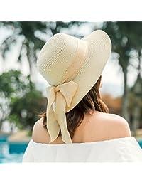 GAOQIANGFENG La sombrilla Exterior Hat Hembra Sombrero para el Sol de Verano  Ocio Bow Hat Gorra 37a117c64f8