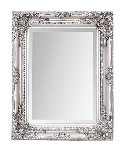 Select Mirrors Rhone - Espejo pequeño de pared de estilo barroco antiguo - Diseño vintage francés - Decoración elegante para el hogar - Plata antigua - 42 cm x 53 cm ...
