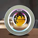XHHWZB 4Inch Floating Globe mit LED-Leuchten Magnetschwebebahn Floating Globe mit Power Button Weltkarte für Schreibtischdekoration Kids Educational Globe (Farbe : Gold)