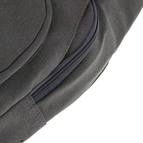 Rucksack Sling Bag Schulterrucksack Umhängetasche Daypack Crossbag Kamerarucksack mit Verstellbarem Schultergurt Perfekt für Outdoorsport, Wandern, Radfahren, Bergsteigen, Reisen,Schule - Grau Grau