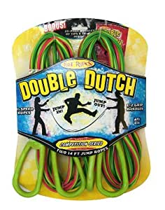 POOF-Slinky 0X0541 POOF Hot Ropes Pro Competition Series Double Dutch Plastic Jump Ropes, 14-Foot Length, 2-Pack, Assorted Colors
