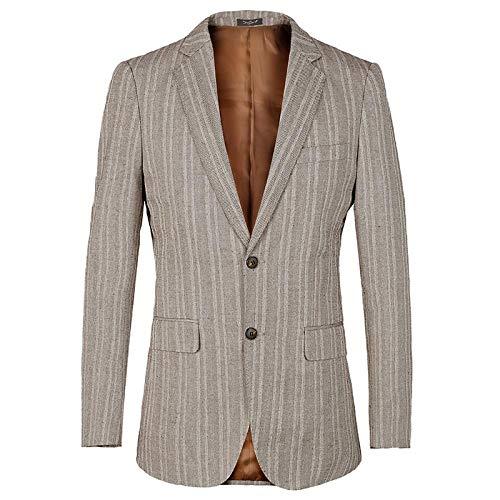 Männlichen Kostüm Chef - SQMRZZB Blazer Männer 2017 Luxusmarke Gestreiften Herren Blazer Slim Fit Anzug Jacke Britischen Stil Baumwolle leinen Männlichen Blazer Kostüm Homme